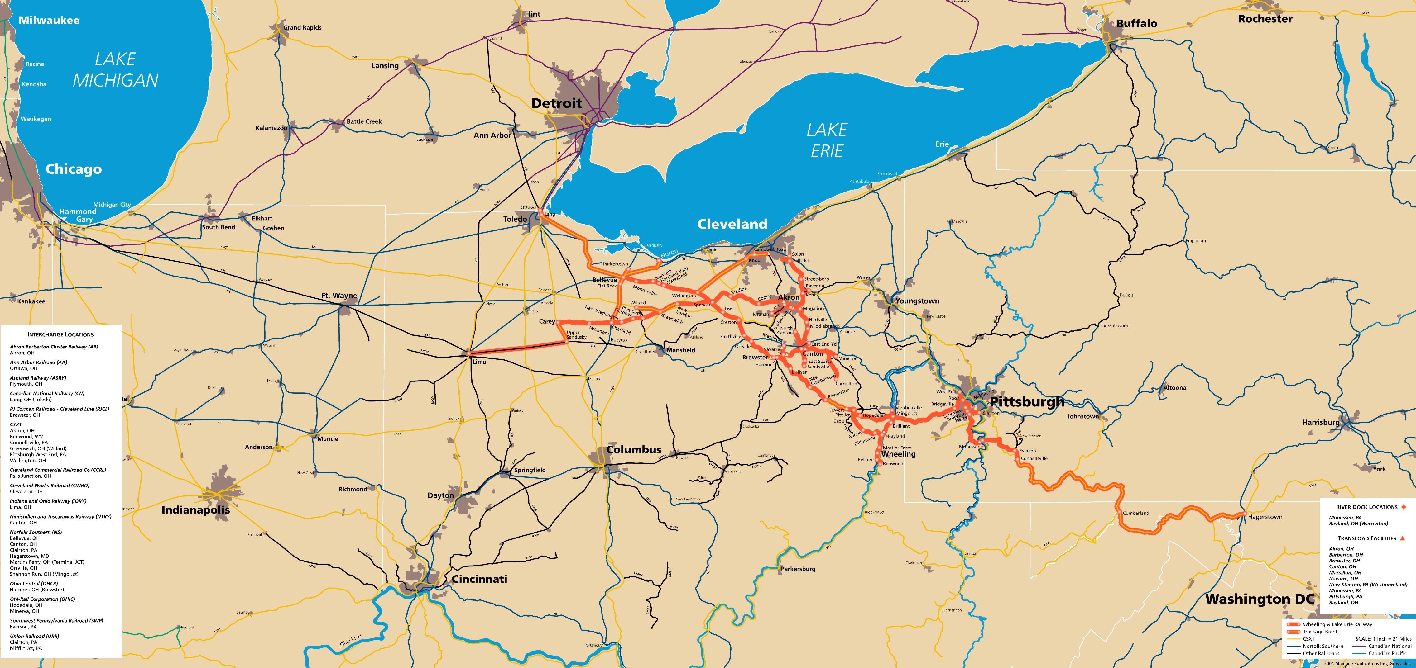 courtesy wheeling  lake erie rwy httpwwwwlerwycom. multimodalways  wheeling  lake erie rwy maps